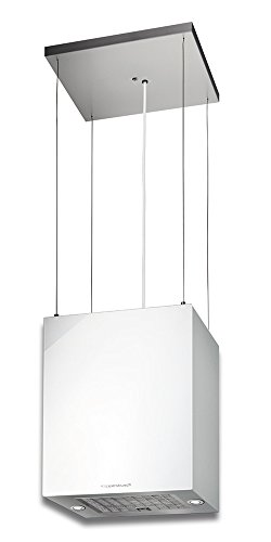 Küppersbusch DI3800.0W Insel- Dunstabzugshaube, Glas/Metall, Weiß