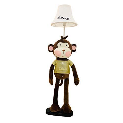 Li Niedliche Cartoon AFFE Stehleuchte Kinderzimmer Augenschutz Vertikale Dunkel Stehleuchte Kreative Wohnzimmer Studie Stoff Tischlampe Schlafzimmer Nachttisch Nursing Tischlampe