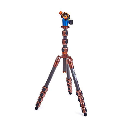 3 Legged Thing Albert Kit 2.0 Carbon Fibre Compact Travel Tripod System with AirHed Pro Ballhead...