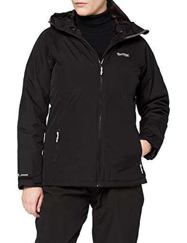 Regatta Voltera Protect Chaqueta calefactable, impermeable, con capucha y costuras selladas Jackets Waterproof Insulated, Mujer, Black, 8