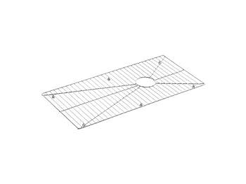 Kohler K-6233-ST Bottom Basin Rack for Stages 45  Sink Stainless Steel