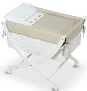 Bimbi Class – Bébé, 68 x 83 x 76 cm, blanc et lin