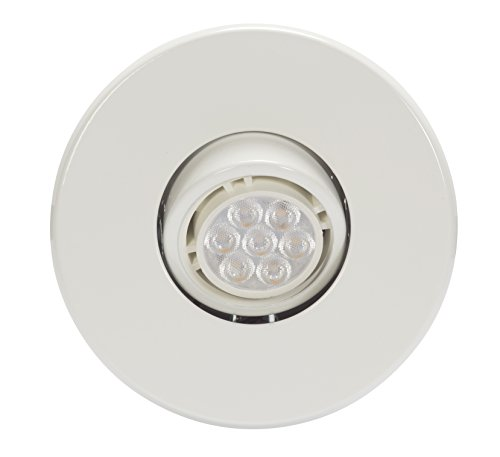 Globe Electric 90733 Recessed Lighting, 4 Pack, White Round Swivel