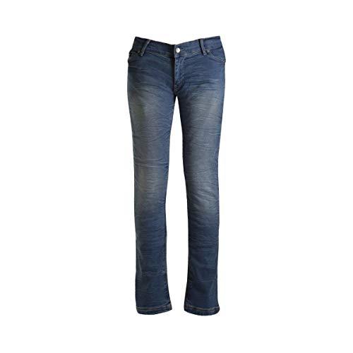Bull-it SR6 Ocean 17 Rechte Dames Motorfiets Jeans Broek (Korte) - Blauw 16 Blauw