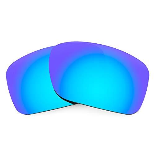 Revant Verres de Rechange Compatibles avec Oakley Turbine, Polarisés, Bleu Glacier MirrorShield