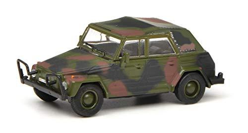 Schuco 452643000 VW 181 BW Kübelwagen, geschlossen, Modellauto, Military, 1:87, Flecktarn, Olive