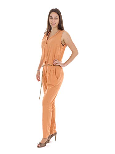 Supertrash Jumpsuit Overall Sommeranzug orange Wondered Gürtel (42)