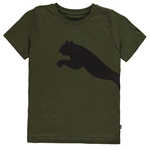 PUMA Kinder-T-Shirt für Jungen, Big Cat QT, Rundhalsausschnitt, T-Shirt Gr. XL, Forest Night