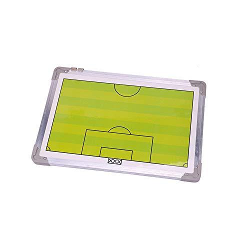 Plegable de fútbol magnética de tablero táctico Los entrenadores de fútbol Juego de coche del libro Comando Pizarrón con la pluma, magnética regrabable de aluminio de fútbol de mesa Guía de entrenamie