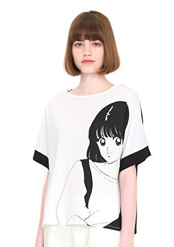 (グラニフ) graniph コラボレーション ワイド Tシャツ/南 (タッチ) (ホワイト) レディース Lady(F) (g107)