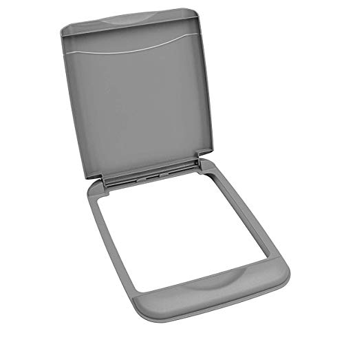35 Quart Polymer Trash Waste Container Garbage Recycling Can Replacement Lid for Kitchen or Laundry Room Sliding Cabinet Base, Silver (Lid Only) - Rev-A-Shelf RV-35-LID-17-1