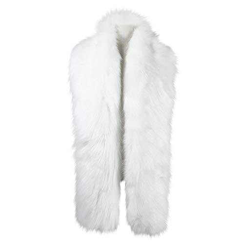 Caracilia Winter Straight Scarf Wrap Fake Fur Collar Shawl Shrug White 180CA97