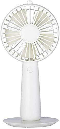 QAZW Ventilador De Oficina Recargable, Mini Ventilador Portátil Portátil, Escritorio Silencioso con Ventilador De Base USB,White