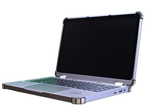 Rugged Laptop with I7-8550U Quad Core, 8 Thread CPU, 16GB RAM / 512GB SSD, 13.3 Inch 1080p Screen, Tenacious Model in Gun Metal Gray