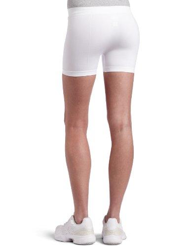 Bollé Women's Solid Panel Seamless Tennis Short, White, Medium