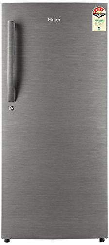 Haier 195 L 5 Star ( 2019 ) Direct-Cool Single Door Refrigerator (2157 BS-R, Brushed Silver)