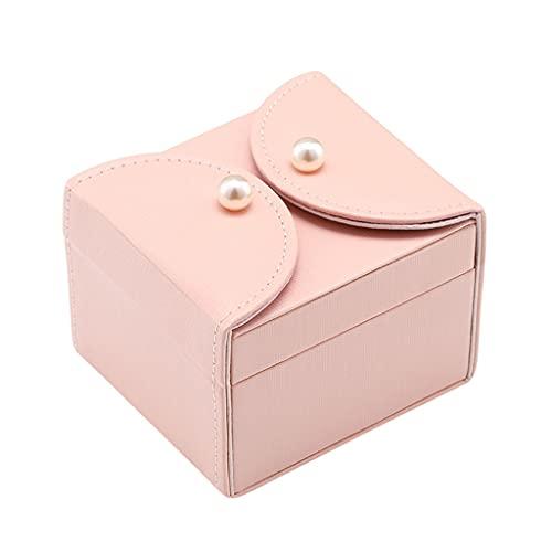 ROEWP Caja de Acabado de Joyas de Estilo Europeo de Princesa, Caja de joyería de Regalo de graduación de Boda, Pendientes de Anillo de Collar, Almacenamiento y Caja de clasificación (Color : Pink)