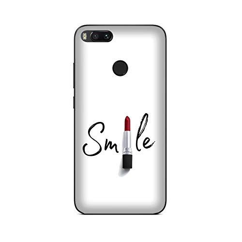 Funda Mi A1 Carcasa Xiaomi Mi A1 amo el maquillaje Lápiz labial Smile / Cubierta Imprimir también en los lados / Cover Antideslizante Antideslizante Antiarañazos Resistente a golpes Protectora Ríg