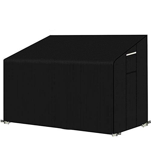 PATIO PLUS Abdeckung für 3-Sitzer Gartenbank, wasserdicht, mit Lüftungsschlitzen, 163 x 66 x 63/89 cm, für Gartenbank, reißfest, 600D Oxford