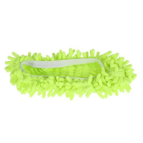 harupink Mop Schuhe 3 Paar Bodenwischer Lazy Slippers,Bodenreiniger Schuhabdeckung Wischmop Hausschuhe,Reinigung Pantoffeln Putzschuhe Microfaser Staubmopp Hausschuhe (Grün)