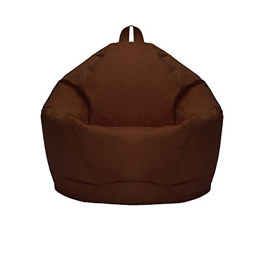 WXFN Classic Bean Bag Chair Sofa Cover Soft and Comfortable Without Fillings, for Adults and Kids Comfy Storage Chair Sofa Slipcover Brown,L