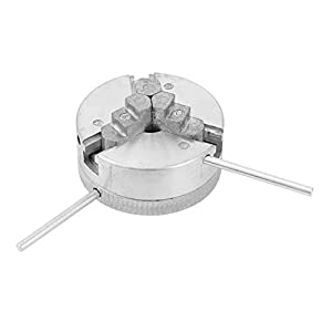 cigemay Mandril de Torno de Madera Torno Micro Mandril de 3 mandíbulas Mini Mandril de Torno, Mandril de Torno, Accesorios de máquina Herramienta para Mini Torno de Metal
