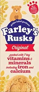 Farley's Rusks Original Baby Biscuits 9 pk x 2 (18 count) Imported from Ireland
