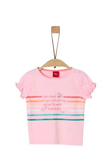 s.Oliver Junior Baby-Mädchen 405.10.005.12.130.2037268 T-Shirt, 4145 Puder pink, 92