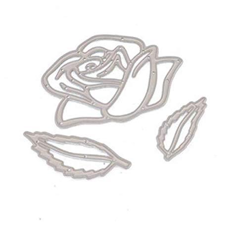 Rose Snijden Sjabloon DIY Mes Model Wenskaart Album Maken Gereedschap Snijden Dies voor Kaart Maken 7X6Cm