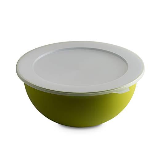 Omada Design Bowl 3.5 lt + tapa, diámetro 26 cm, blanco por dentro y coloreado por fuera, en polipropileno y antibacteriano