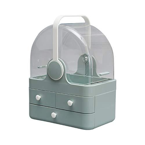 Nvshiyk Maquillage des boîtes de Rangement Boîte de Rangement cosmétique Organiser la Coiffeuse à Grande capacité ménagère Anti-poussière de Bureau pour Meuble-lavabo et comptoir