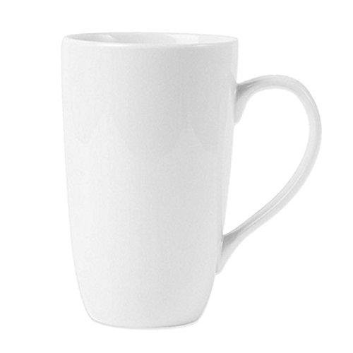 Fitz and Floyd Everyday White Classic Latte Mug in White 16 oz. Dishwasher Safe