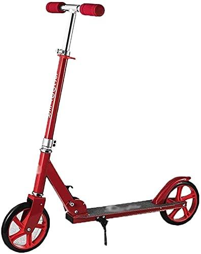 QIXIAOCYB Scooter per Calcio Pieghevole per Adulti- 2 Grandi Ruote PU Altezza Regolabile a Due Ruote
