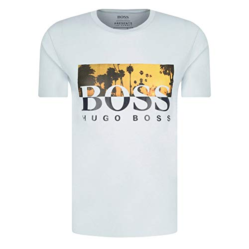 BOSS Hugo TSummer Graphic Logo Camiseta Azul Claro 50435831