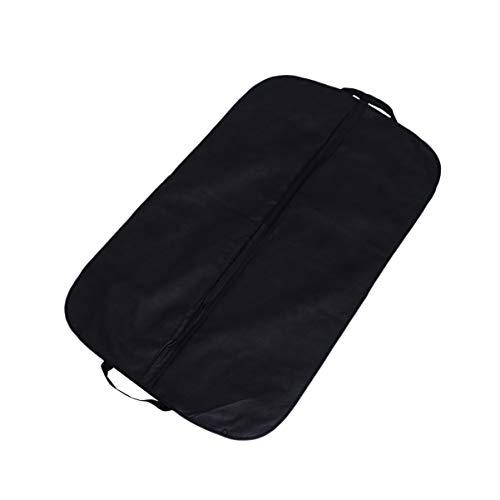 NICEXMAS Funda para Portatrajes Telas No Tejidas Traje de Viaje Portador de Almacenamiento con Asas para Vestido Abrigo Organizador de Armario Viaje de Negocios (Negro)