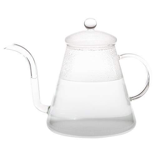 Trendglas Jena POUR OVER - Hervidor de agua (cristal de borosilicato, 1,2 L)