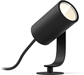 Philips Hue White and Colour Ambience Lily Outdoor Spot Light LED Integrated, 8 W, Anthracite, IP65 (Full Pack)