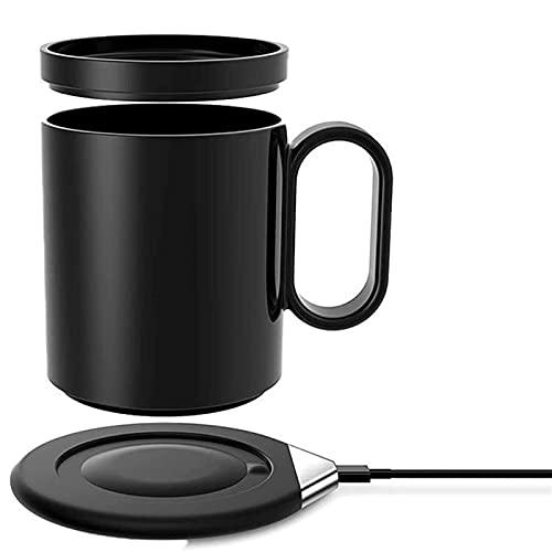GDYJP Taza de café Inteligente, cálido, Taza de café eléctrico, Apagado automático, Gravedad activada, Uso de la Oficina de Oficina, Placa de cálculo de Bebidas para café, Leche, té, Agua