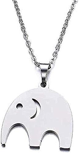 huangshuhua Collar de Acero Inoxidable para Mujer, Hombre, Amante, Elefante, Colgante, Collar, joyería de Compromiso, Collar, Cadena Colgante para Mujeres y Hombres