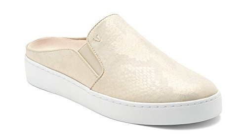 Vionic Women's Splendid Dakota Slip-on Mule - Ladies Backless Sneakers with Concealed Orthotic Arch Support Gold 7.5 M