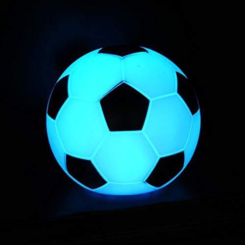 Uonlytech Lámpara de fútbol Multicolor LED Luz de Noche Lámpara Decorativa Linda Juguete Ligero de Escritorio para habitación de niños Dormitorio