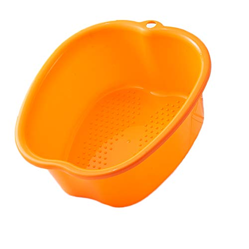 Shinyeagle FußBad Spa Schüssel,Fußpflege Bad Plastik Wanne Fuß Aufweichen Schale Fußmassageteilchen können beim Massieren helfen, lindern Müdigkeit und entspannen die Stimmung (Orange)