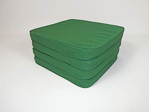 green set of 4 chair seat cushion pad outdoor indoor patio furniture living kitchen dining water resistant…