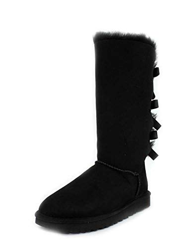 UGG Damen W Bailey Bow Tall Ii, Black, 40 EU