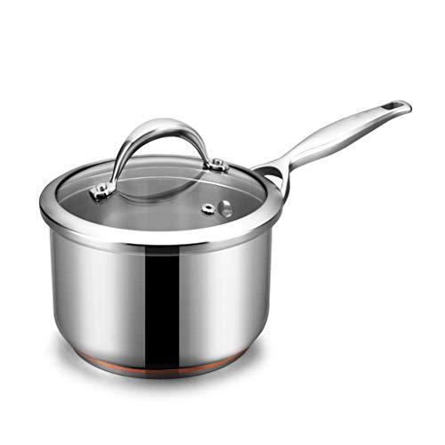304 acier inoxydable pot à lait mini ménage petit pot n'est pas facile à coller pot petit pot supplément alimentaire pour bébé vapeur (taille : 18cm)