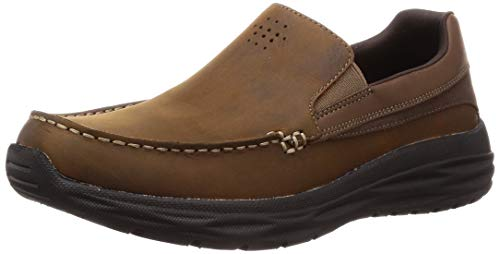 Skechers Harsen-Ortego, Mocasines para Hombre, Marrón (Brown CDB), 43 EU