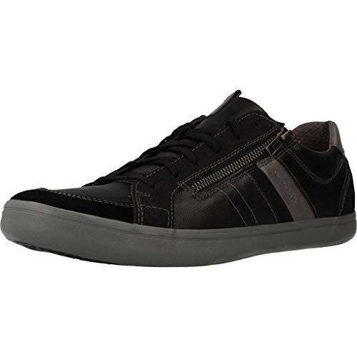 Geox Hombre mínimo HALVER, de Caballero Zapatillas,Zapatos Deportivos,Zapatillas con Cordones,Transpirable,Calzado,Sneaker,Schwarz,45 EU /...