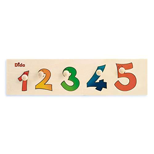 Dida - Puzzles secuencias - Números - Rompecabezas de Madera para niños