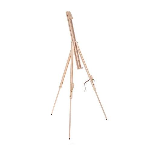 Art-Star Holz Feld STAFFELEI Pine 180cm | Leinwände & Keilrahmen bis 110 cm Höhe | tragbare Feldstaffelei zum Malen
