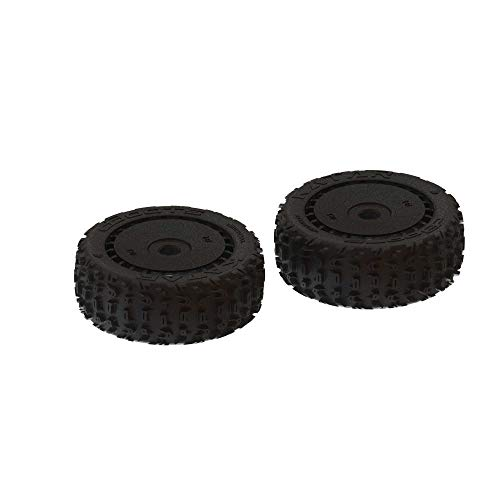 ARRMA 1/8 dBoots Front/Rear 3.3 Pre-Mounted Tires, 17mm Hex, Black (2): Katar B 6S, ARA550058